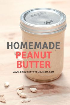 Homemade Peanut Butter is simple to make. Know what is going into your food by mixing these easy ingredients together for a classic. Make your own peanut butter at home with this easy peanut butter recipe. Homemade Peanut Butter, Healthy Peanut Butter, Peanut Butter Recipes, Snacks For School Lunches, Easy Dinner Recipes, Snack Recipes, Healthy Recipes, Cheap Vegan Meals, Easy Canning