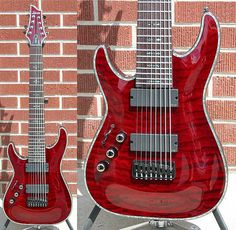 Schecter DIAMOND SERIES HELLRAISER C-8 8-String Black Cherry Left Handed 8-String Electric Guitar