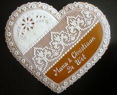 Svadobné srdce - medovník. Autorka: yvka. Artmama.sk