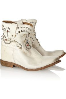 Isabel Marant - concealed wedge boot, white leather