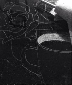 Drypoint rose