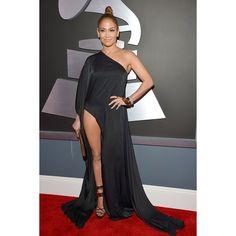 Jennifer Lopez at the Grammy's 2013 Jennifer Lopez, Grammys 2013, Grammy Red Carpet, Lil Black Dress, Glamour, In Pantyhose, Red Carpet Fashion, Evening Gowns, Nice Dresses
