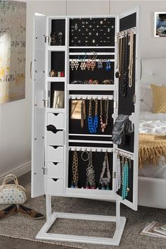 Free Shipping | Mirror Jewelry Armoire