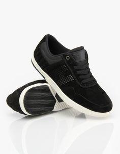 d7c18d8aa24 HUF 2 Skate Shoes - Black Bone White - RouteOne.co.uk