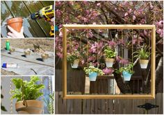 Awesome. It's a very creative idea of re-purposing old picture frame as a plant hanger! Make it and hang in you yard, your friends and neighbors will be impressed.