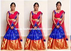 Actress Roja daughter Half saree Cermoney!   Fashionworldhub