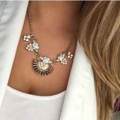 New York & Company rhinestone fan necklace New with tags. No trades or Paypal please  New York & Company Jewelry Necklaces. Sign up on POSHMARK with the code PYJYI to get $10 off your first order!!! I promise it's easy and you can save up to 70% by shopping on this site.