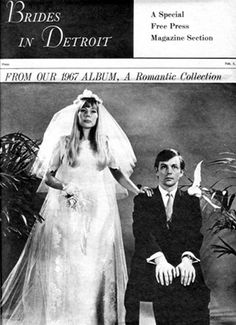 The couple then moved to Detroit where they became regular performers at local coffee houses with the Chuck and Joni Show. They appeared together in a staged photo spread in the Detroit Free Press intended as a send up of traditional stilted bridal poses.