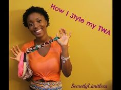 Natural Hair | How to style a TWA using headbands (4c Hair) - YouTube