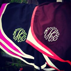 monogrammed nike shorts... I SHOULD'VE thought of & had this done... a long time ago LOL... due to stolen clothing ha...