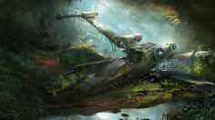 """""""X-Wing Wreckage"""" by Tysen Johnson  