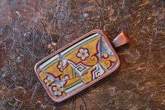 Grey Garden  OOAK Mosaic Pendant Mosaic Jewelry by MosaicPendants, $35.00