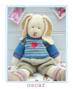 'OSCAR Rabbit' ....a Mary Jane's TEAROOM PDF Knitting Pattern....