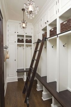 Dream mudroom storage- love the individual cubbies!