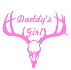 Daddy's Girl Hunting Decal Vinyl Car Sticker Girls Hunt Too!