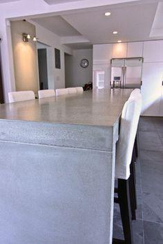 Concrete kitchen tops and island modern kitchen countertops
