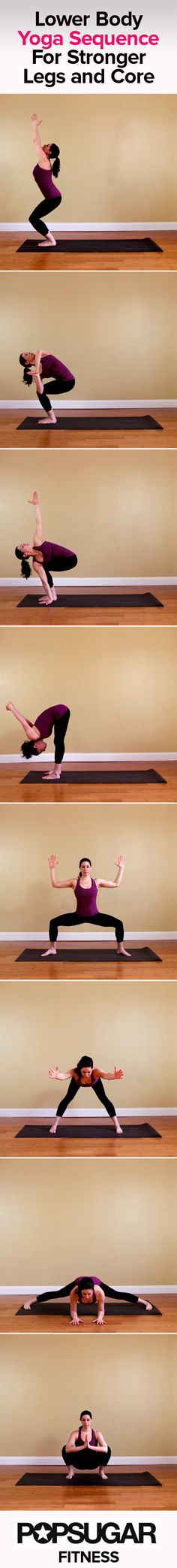 Yoga Moves For Stronger Legs and Core This looks and feels easy until you are called to do it in repetition. It's hard as heck, but pays off!