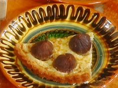 Almond-Crusted Fig Tart: Crostata di Fichi Mandorlati recipe from Mario Batali via Food Network