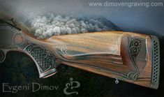 The World's Largest Hand Engraving Community Flintlock Rifle, Reloading Bench, Rifle Stock, Engraved Knife, Shooting Guns, Metal Engraving, Carving Designs, Cool Guns, Woodworking Projects Diy