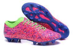 Latest Adidas X15.1 Soccer Boots Cleats Menace Pack FG Nail pink blue green  Nike 6439de61e4b19