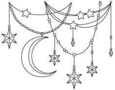 Celestial Drape design (UTH14013) from UrbanThreads.com