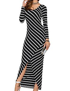 Cheap robe femme, Buy Quality sleeve maxi dress directly from China long sleeve maxi Suppliers: High Quality Striped Long Sleeve Maxi Dress 2017 Spring Dress Women Tunic Casual Sheath Party dresses Female Robe Femme Sexy Long Dress, Striped Maxi Dresses, Casual Dresses, Long Sleeve Maxi, Summer Dresses For Women, Women's Fashion Dresses, Ideias Fashion, Clothes For Women, Inspiration
