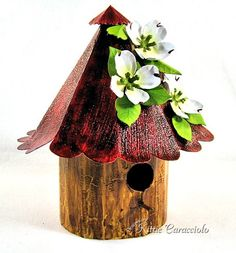 Birdhouse Tutorial, Susan Tierney Cockburn I have a fun project to share with you today made using Susan Tierney Cockburn's Birdhouse and Dogwood along with some step by step photos showing how I assembled and painted the birdhouse.