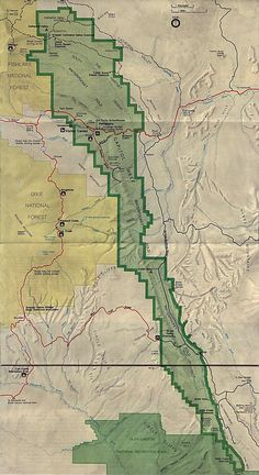 Capitol Reef National Park Map Page