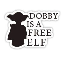 Dobby is a free elf - Type 2 Stickers Dobby Harry Potter, Harry Potter Phone Case, Harry Potter Stickers, Journal Stickers, Laptop Stickers, Printable Stickers, Cute Stickers, Frühling Wallpaper, Tumblr Stickers