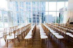 Southern Savvy Events | Kate & Billy | Ceremony Setup | Chiavari Chairs | Downtown Charlotte | Uptown Wedding | Foundation For The Carolinas Wedding | Wedding Ceremony