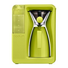 BISTRO b. over, 1.2 l, 40 oz Lime green french press coffee in an automated brew.  With style...
