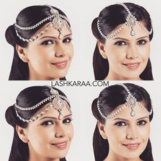 HEADPIECE DRAMA: Mumtaz or Jodha Mathapatti Headpiece? Pick your fav! Available in the 'Jewelry' section at Lashkaraa.com ✨