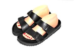 d710ed81c Birkenstock Black Rubber Double Strap Slide Sandal Euro 40 US Women s 9 Men  7  Birkenstock