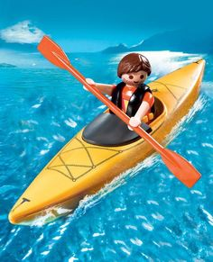 Playmobile kayaker