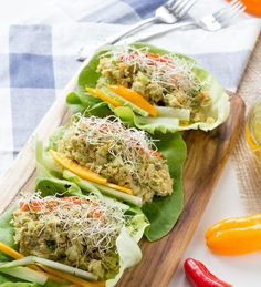 Avocado Chickpea Lettuce Wraps