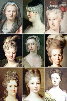 THE VINTAGE THIMBLE — 18th Century Woman's Hairstyles A collection of...