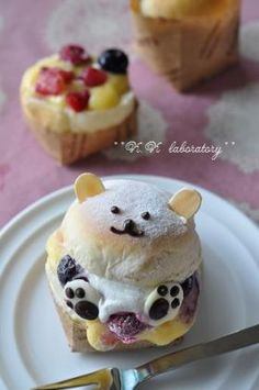 白クマさんの冷たいクリームパン