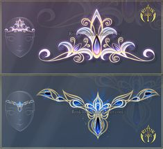 A diadem and a tiara. Or a tiara and a diadem... 1 - sold to 2 - sold to DO NOT edit, trace, copy or repost my designs! They belong to people who bought them! Please, read the Terms of Usage and in...