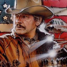 Charles Bronson movie illustration by Drew Struzan