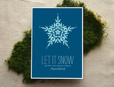 holiday card  let it snow by Cheerupcherup on Etsy, $2.00