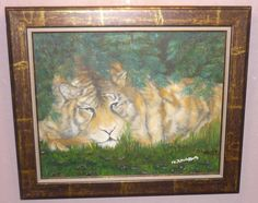 Animals Tiger Morning rest Original oil painting size 16x20 signed N McCafferty 150.00 http://www.ebay.com/itm/Animals-Tiger-Morning-rest-Original-oil-painting-size-16x20-signed-N-McCafferty-/231283953288?ssPageName=STRK:MESE:IT