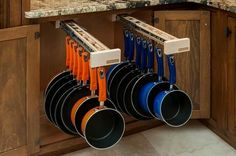 Awesome organization and storage of pots and pans!