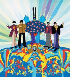 "Alargamiento de extremidades - ""Yellow Submarine"" Beatles movie (1986) - Heinz Edelmann."