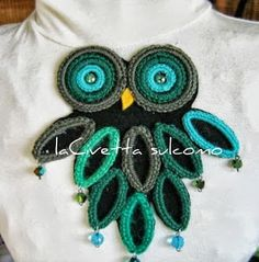 laCivettasulcomò:idee creative ,bigiotteria,moda ,riciclo..Uncinetto,perline e riciclo anelli da tenda. Crochet Earrings, Jewelry, Owls, Friends, Jewellery Making, Jewels, Jewlery, Jewerly, Owl