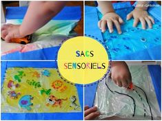 Montessori inspired activities: the sensory bags ♡ Sensory activity ideas for babies and children to discover the world with Montessori pedagogy. Montessori Baby, Maria Montessori, Montessori Activities, Infant Activities, Activities For Kids, Activity Ideas, Puffy Paint, Educational Toys For Toddlers, Sensory Bags