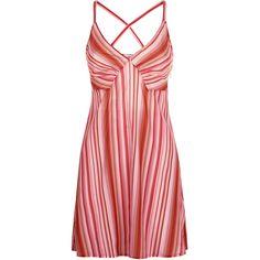 La Perla Floral Rhapsody Red Stripe Print Silk Short Dress (2 310 PLN) ❤ liked on Polyvore featuring dresses, intimates, red sundress, floral mini dress, short red dress, red striped dress and sun dresses