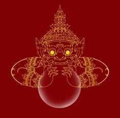 (Symbol #7-Eclipse)- thai rahu swallowing the sun
