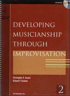 Jamey Aebersold Jazz: Developing Musicianship Through Improvisation Book 2 - C Instruments (Treble Clef)