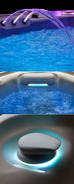 Details and eye-catching relaxation features, in-built and as optional extras on the amazing GRANDEE hot tub - 2014 new design by BMW Groups Works USA and HotSpring. Tubs For Sale, Spring Spa, Happy Hot, Hot Tubs, Portsmouth, Southampton, Spas, Hot Springs, Birmingham