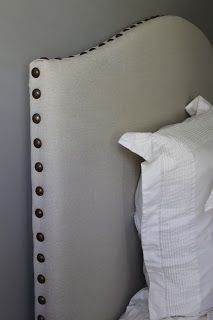 DIY Upholstered Headboard with Nail Head Trim: The Big Reveal
